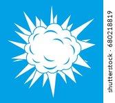 terrible explosion icon white... | Shutterstock .eps vector #680218819