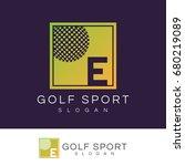 golf sport initial letter e...   Shutterstock .eps vector #680219089