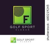 golf sport initial letter f...   Shutterstock .eps vector #680219245