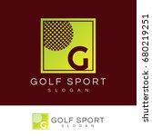 golf sport initial letter g...   Shutterstock .eps vector #680219251