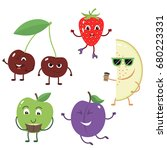 set of funny characters from... | Shutterstock .eps vector #680223331