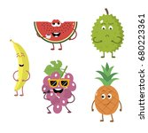set of funny characters from... | Shutterstock .eps vector #680223361