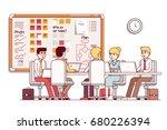 it startup company boardroom... | Shutterstock .eps vector #680226394