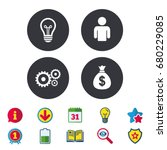 business icons. human... | Shutterstock .eps vector #680229085