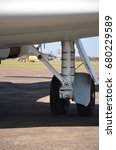 Small photo of Aircraft landing gear