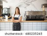 coffee business owner concept   ... | Shutterstock . vector #680235265