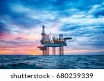 Hdr Of Offshore Jack Up Rig In...