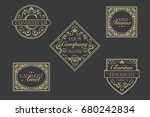 antique vector labels | Shutterstock .eps vector #680242834