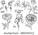 set of elements. vector... | Shutterstock .eps vector #680244211