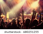 crowd at concert   summer music ... | Shutterstock . vector #680251255