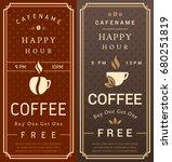 happy hour. free coffee flyer....   Shutterstock .eps vector #680251819