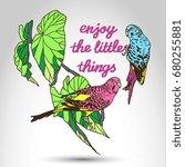 vector vintage motivation... | Shutterstock .eps vector #680255881