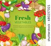 fresh vegetables background....   Shutterstock .eps vector #680257321