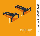 push up icon  vector... | Shutterstock .eps vector #680257441