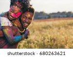 portrait of happy african... | Shutterstock . vector #680263621