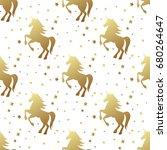 unicorn silhouette seamless...   Shutterstock .eps vector #680264647