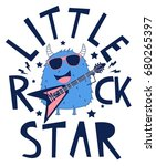 little rock star monster... | Shutterstock .eps vector #680265397