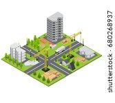 construction building quarter... | Shutterstock .eps vector #680268937