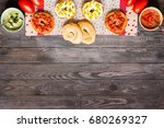italian bruschetta with cheese  ... | Shutterstock . vector #680269327