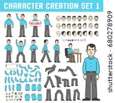 character creation set. a man... | Shutterstock .eps vector #680278909