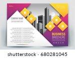 vector brochure layout  flyers... | Shutterstock .eps vector #680281045