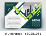 vector brochure layout  flyers... | Shutterstock .eps vector #680281051