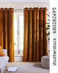 luxury curtain with a copy... | Shutterstock . vector #680282695