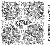 photo doodles hand drawn... | Shutterstock .eps vector #680295475