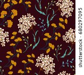 cute floral pattern in the... | Shutterstock .eps vector #680297095