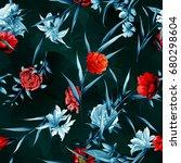 seamless background pattern.... | Shutterstock .eps vector #680298604