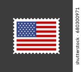 usa flag postage stamp. vector | Shutterstock .eps vector #680300971