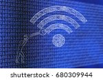 fixing internet connection... | Shutterstock . vector #680309944