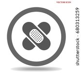 patch medicine icon | Shutterstock .eps vector #680313259