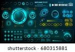 futuristic virtual graphic... | Shutterstock .eps vector #680315881