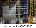 construction building site with ... | Shutterstock . vector #680324965