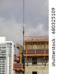construction worker wearing... | Shutterstock . vector #680325109