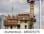 construction worker wearing... | Shutterstock . vector #680325175