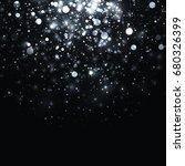 silver glowing light glitter... | Shutterstock . vector #680326399