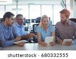 business people working... | Shutterstock . vector #680332555