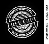 free gift with chalkboard...