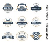 car logos templates vector... | Shutterstock .eps vector #680334259