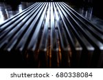 abstract lines vintage bench | Shutterstock . vector #680338084