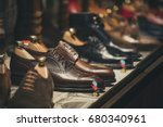 men shoes in a store in  madrid | Shutterstock . vector #680340961
