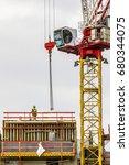 construction worker wearing... | Shutterstock . vector #680344075