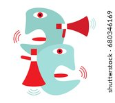 modern abstract illustration... | Shutterstock .eps vector #680346169