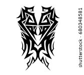 tribal tattoo art designs.... | Shutterstock .eps vector #680348581