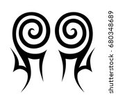 tattoo tribal vector design.... | Shutterstock .eps vector #680348689