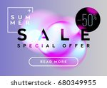 summer sale horizontal banner... | Shutterstock .eps vector #680349955