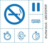 stop icon. set of 6 stop filled ... | Shutterstock .eps vector #680350909