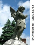 Small photo of Praying Cemetery Angel